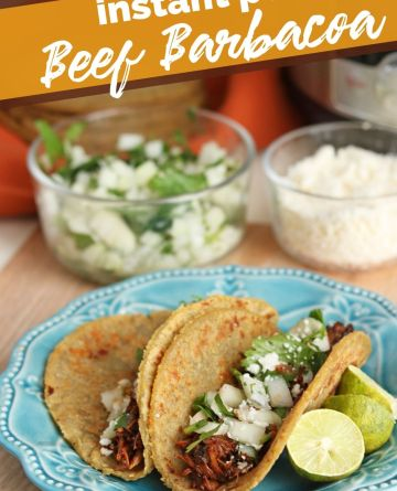 Instant Pot Beef Barbacoa recipe from The Rockstar Mommy