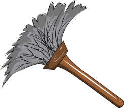 clip art image of a duster