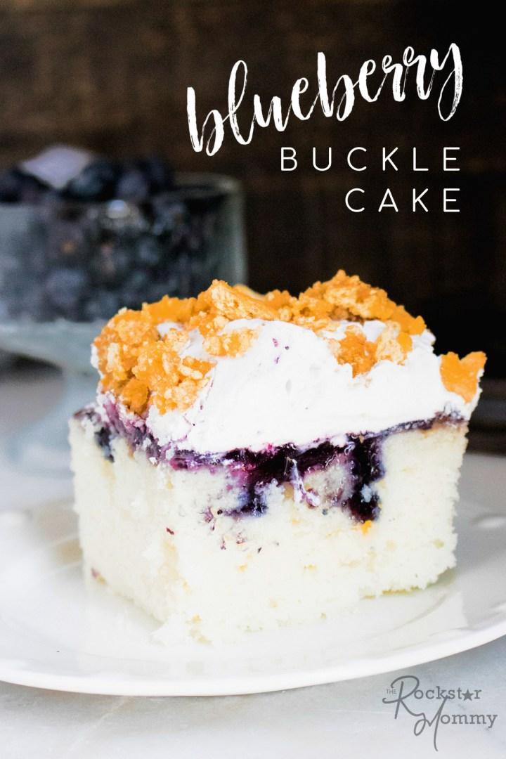 Blueberry Buckle Poke Cake #cake #pokecake #bucklecake #blueberry