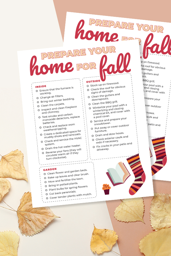 How to Prepare you Home for Fall (Free Printable) #printables #falll #prepare #home #organize