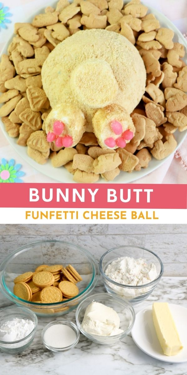 Have fun preparing for Easter celebrations by adding this cute and creative Bunny Butt Funfetti Cheese Ball to your snacks list!