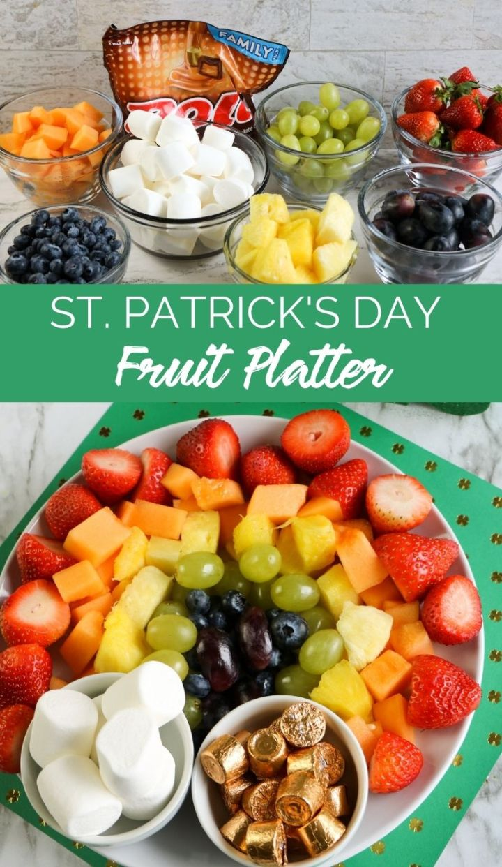 Celebrate St Patrick's Day this year in style with this fun and bright St Patrick's Day Fruit Platter! It's so simple and quick to make!