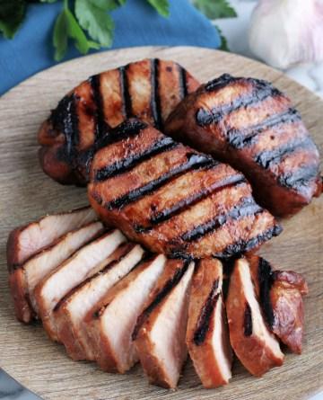 Grilled Pork on a platter