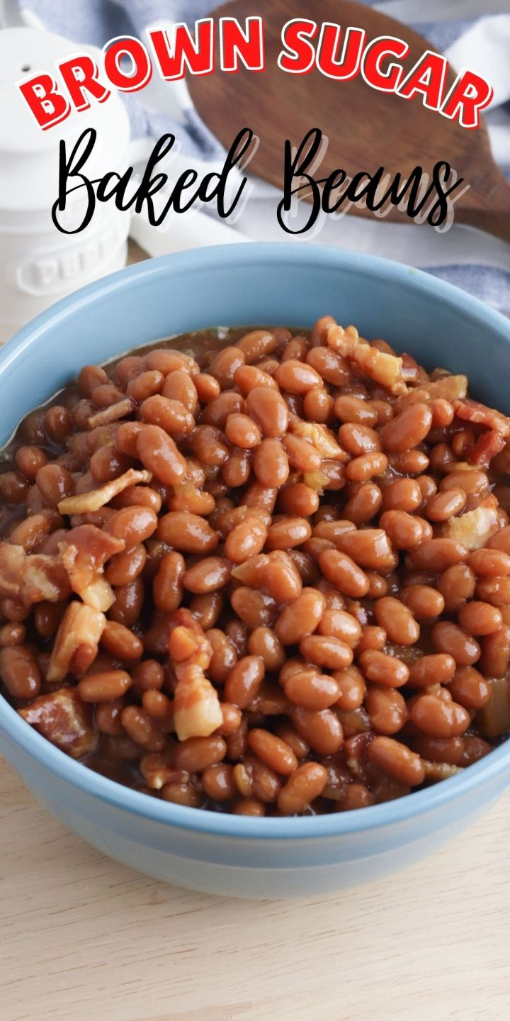 Brown Sugar Baked Beans recipe from The Rockstar Mommy