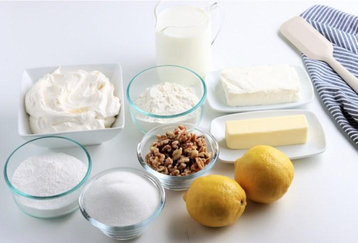 ingredients for lemon lush cake