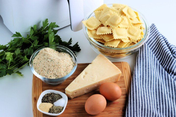 ingredients for air fryer fried ravioli appetizer