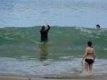 Big surf at Castara bay