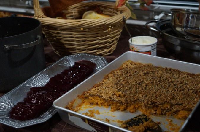 Potato Caserole & Cranberries