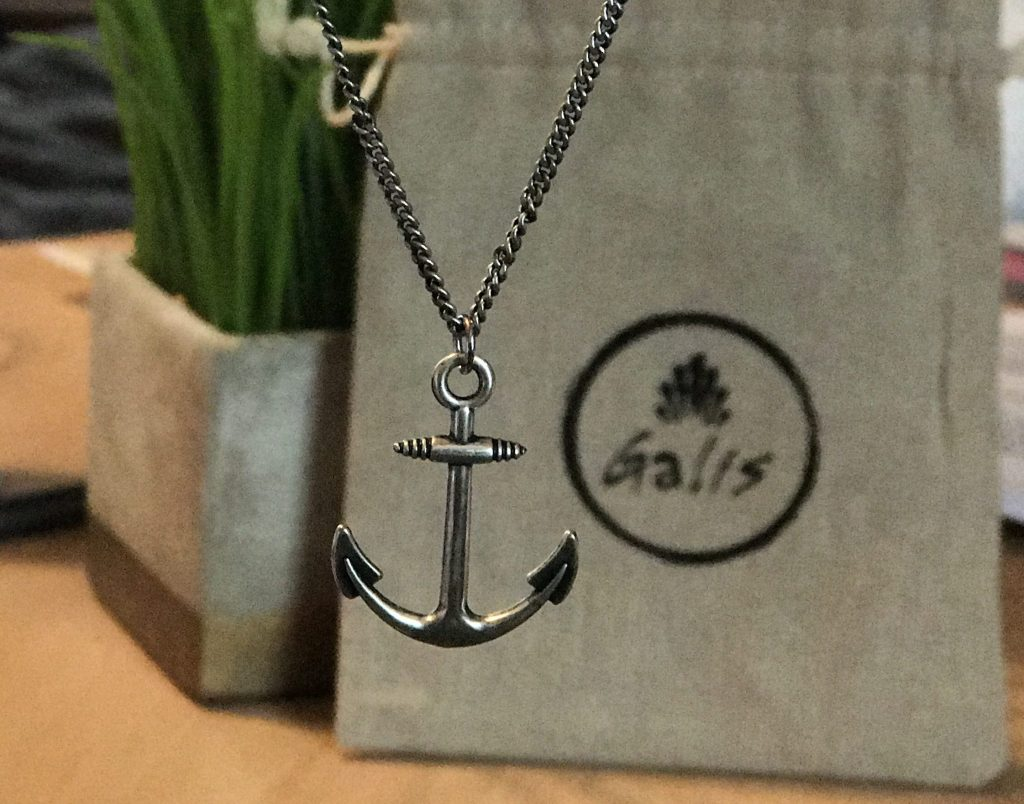 The Anchor Necklace By Galis Symbolizes Strength Stability The