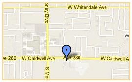Map to Roger Dunn Golf Visalia Store