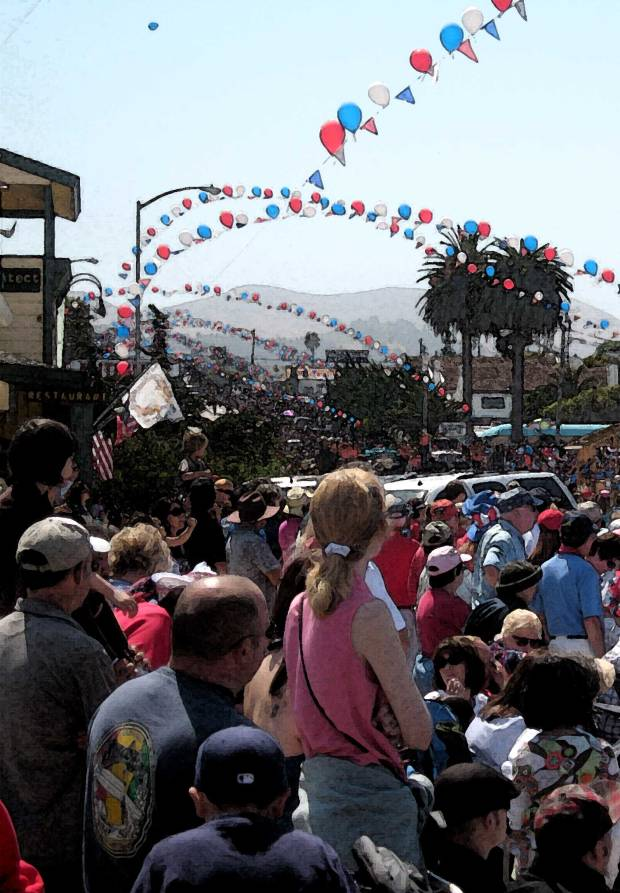 Everyone loves a parade, especially the one in Cayucos, Calif.