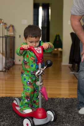 Gramps brought little dude a scooter.