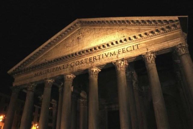 Panthéon la nuit
