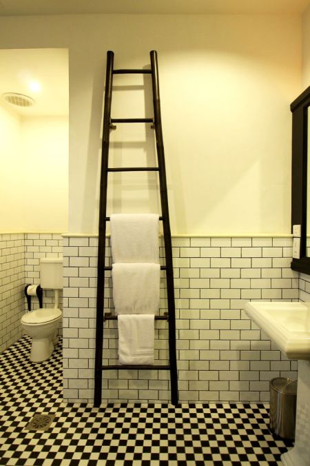 The bathrooms at Cheong Fatt Tze Mansion are as modern as can be.