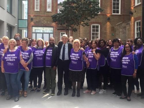 Birmingham carers celebrate victory