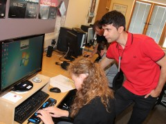Computer camp for visually impaired attracts global visitors