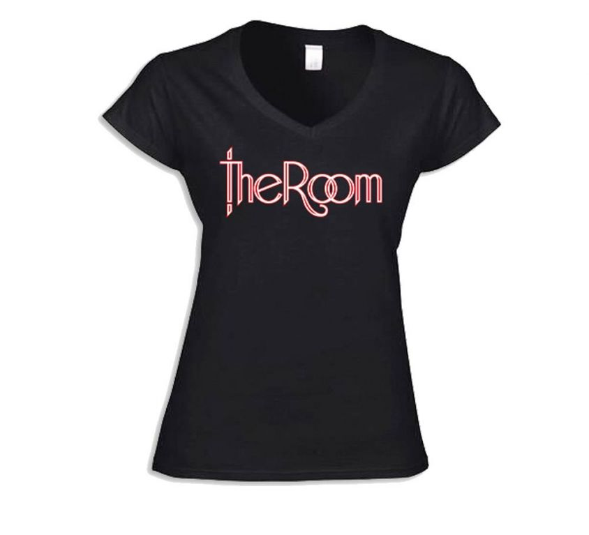 T-shirt Ladies V-Neck – 'The Room' Logo