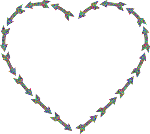 Heart made of arrows.