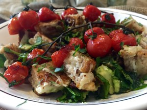 Grilled Cheese Panzanella with Roasted Cherry Tomatoes| The Rose Table
