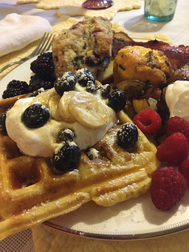 Yeast Belgian Waffles | The Rose Table
