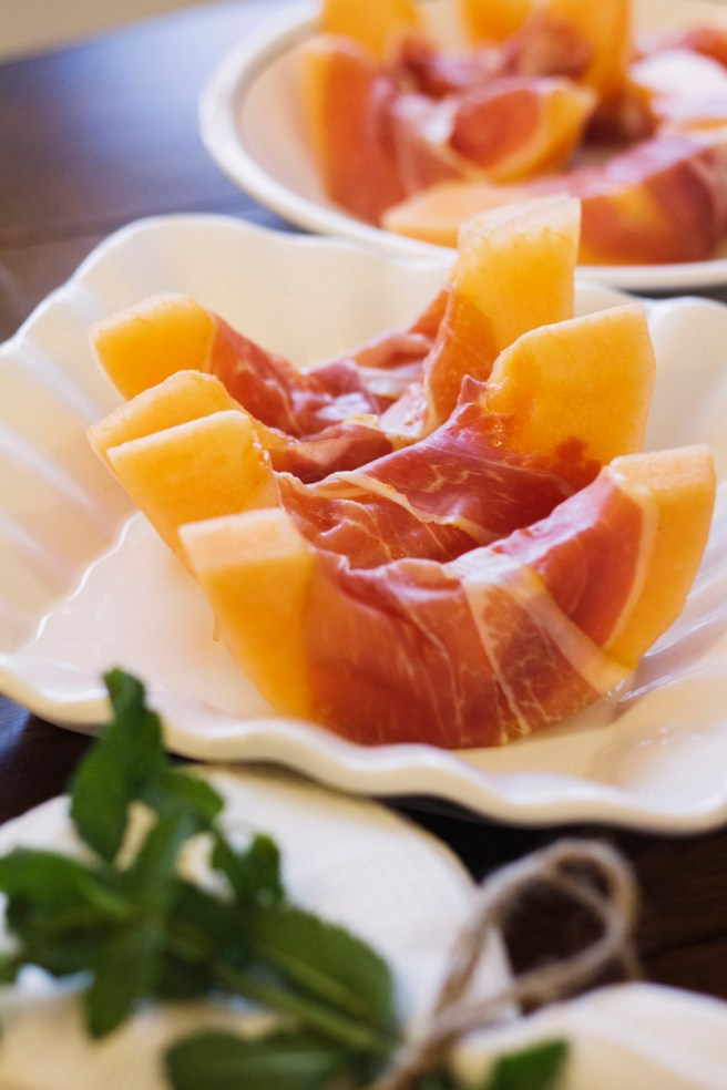 Prosciutto Wrapped Tuscan Cantaloupe | The Rose Table