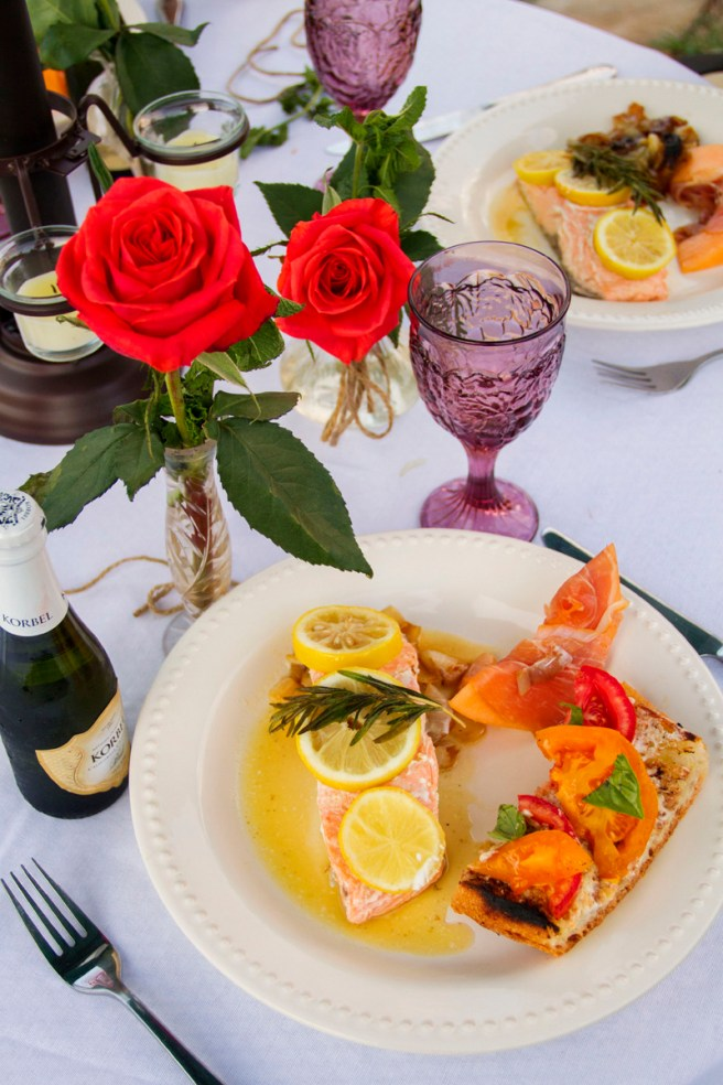 Grilled Rosemary Salmon, Summer Garden Party | The Rose Table