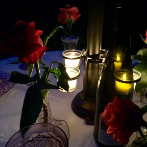 Conversation by candlelight | The Rose Table