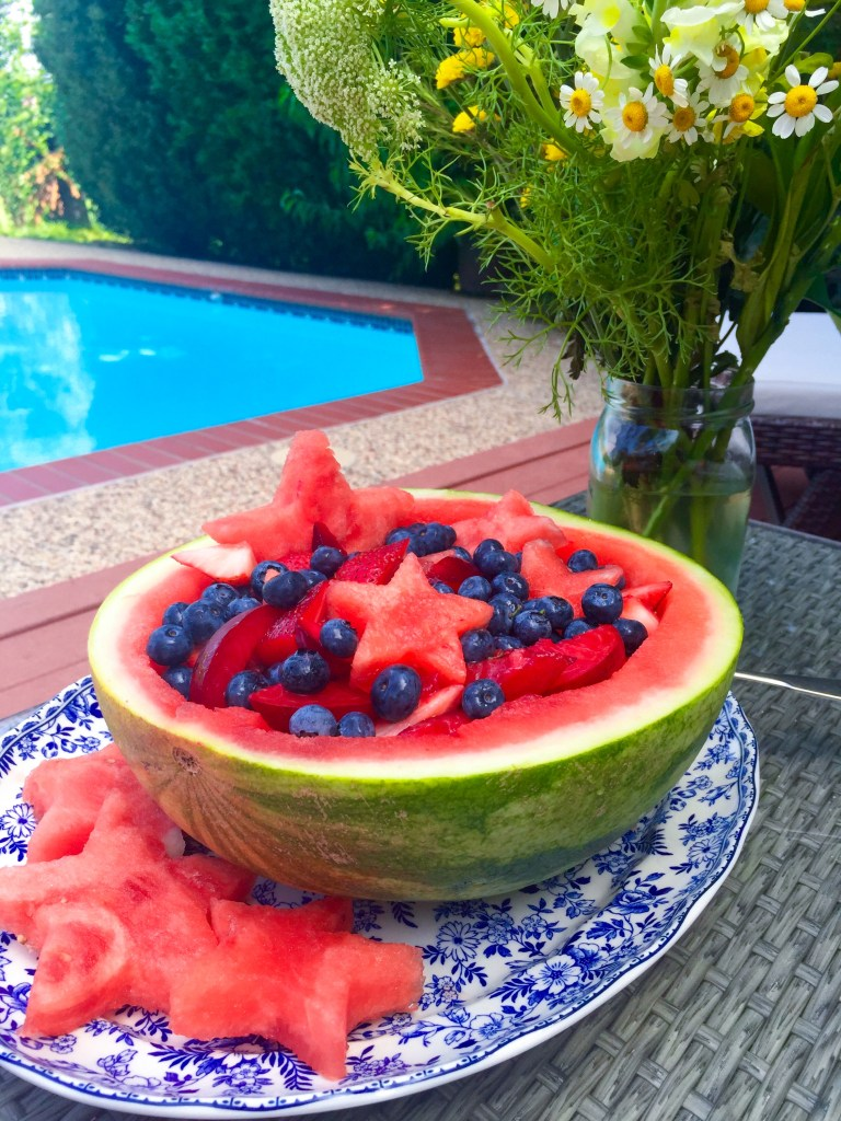 Festive Fruit Bowl | Easy Independence Day Side Dishes