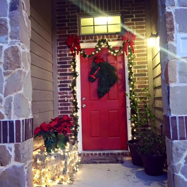 Front Porch at Christmas | The Rose Table