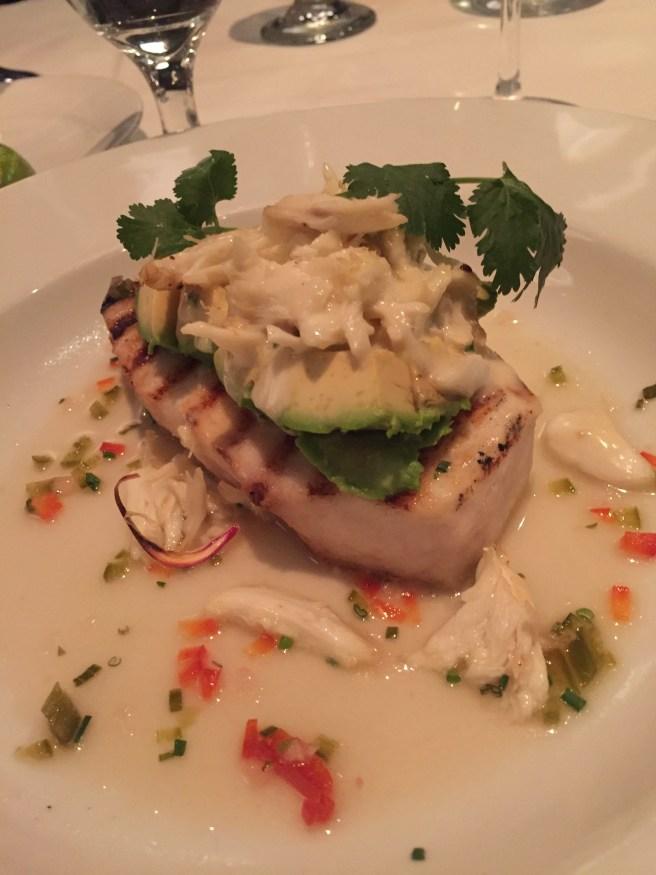 Eddie V's Review: Swordfish Steak   The Rose Table