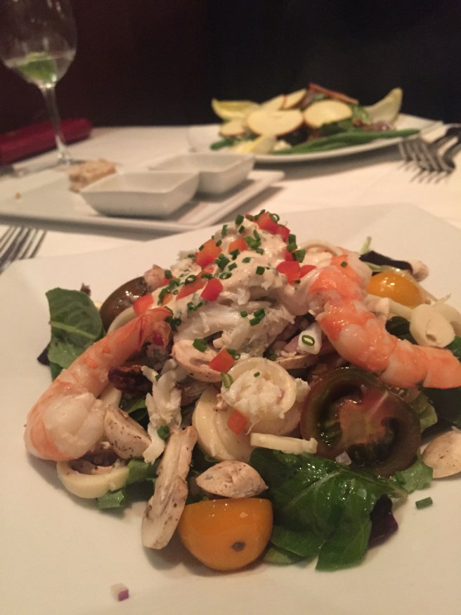 Eddie V's Review: Shrimp and Crab Chopped Salad   The Rose Table