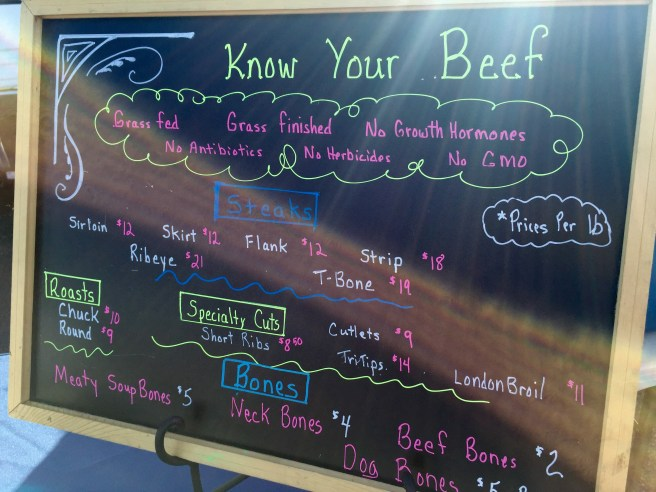 Farmers Market Beef Sign | The Rose Table
