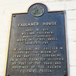 Plaque on William Faulkner's House