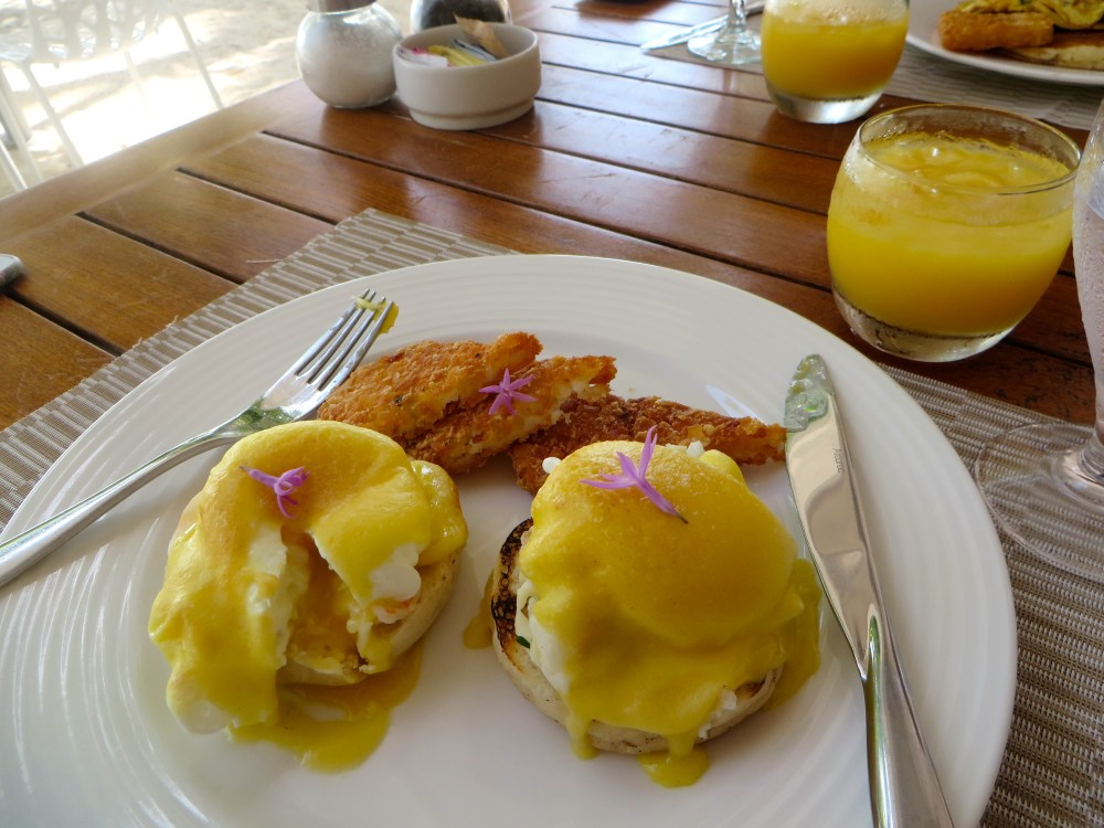 Lobster Eggs Benedict at Fire and Ice at Blue Haven Resort in Turks and Caicos | The Rose Table