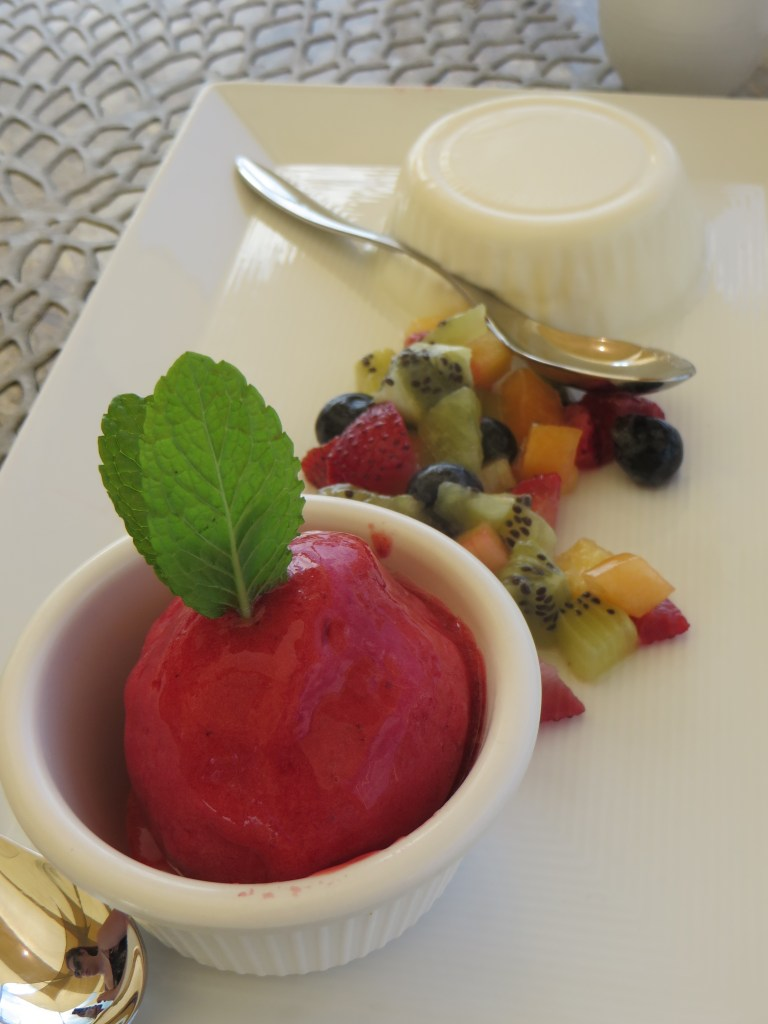 Coconut Panna Cotta at Asu on the Beach at Alexandra Resort in Turks and Caicos   The Rose Table