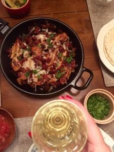 Chicken, Mushroom, and Bacon Fajitas   The Rose Table
