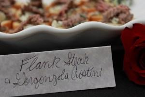 Flank Steak and Gorgonzola Crostini   The Rose Table