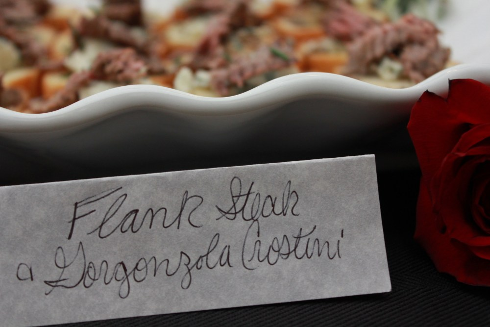 Flank Steak and Gorgonzola Crostini | The Rose Table