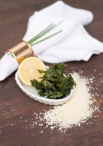 Parmesan Kale Chips | The Rose Table