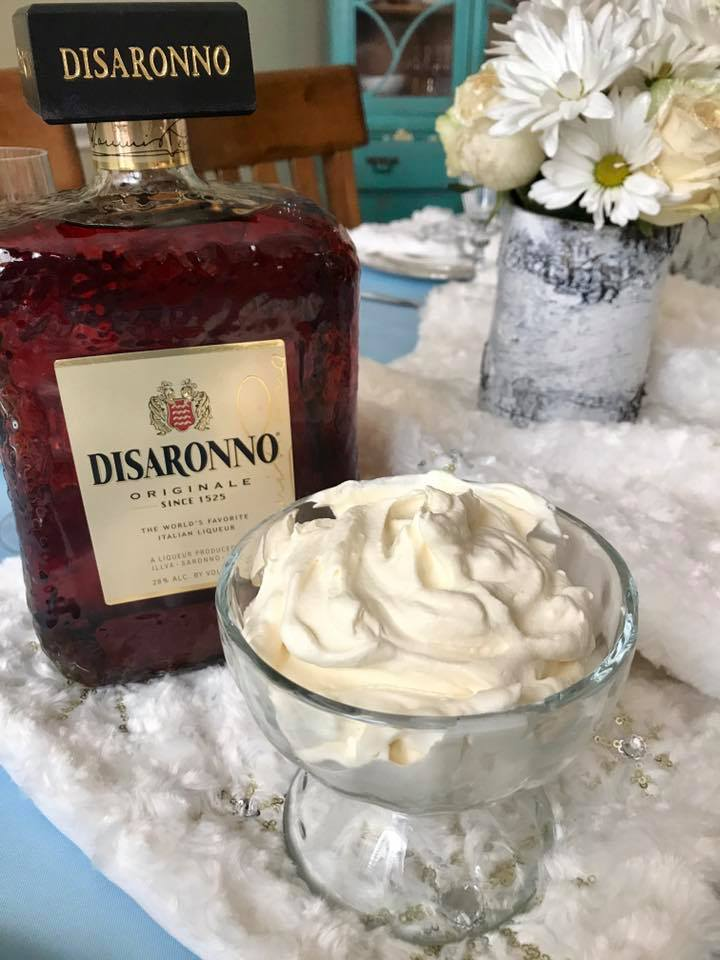 Amaretto Whipped Cream Recipe | The Rose Table, Frozen recipes, adult Frozen dinner party