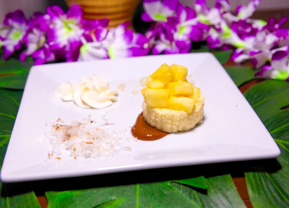 Mini Pineapple Cheesecakes, Hawaiian Desserts