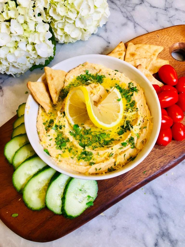 Lemon Garlic Hummus, Best Hummus Recipe | The Rose Table
