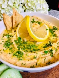 Lemon Garlic Hummus | The Rose Table