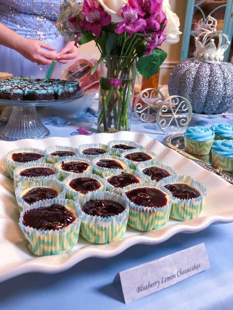 Mini Lemon Blueberry Cheesecakes | The Rose Table