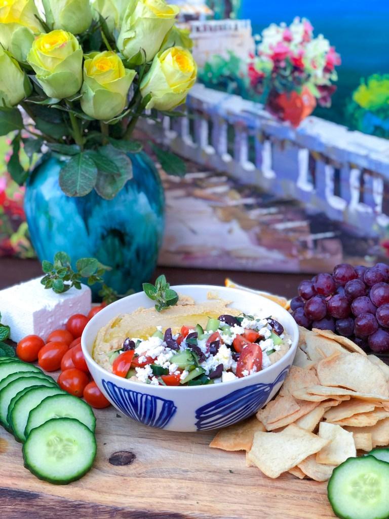 Loaded Greek Hummus with Feta, Best Homemade Hummus Recipe | The Rose Table