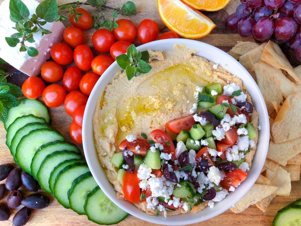 Loaded Greek Hummus with Feta, Best Homemade Hummus Recipe   The Rose Table