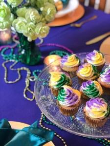 King Cake Cupcakes Mardi Gras Dessert Recipe   The Rose Table