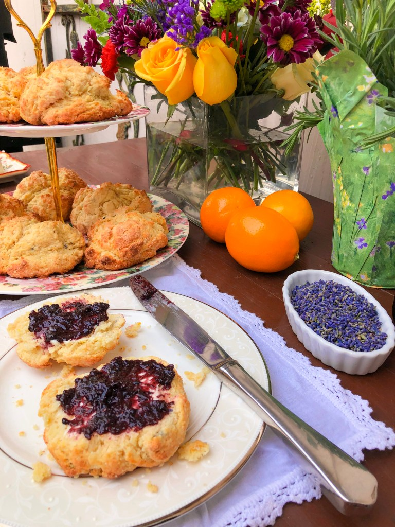 Lemon Lavender Buttermilk Scones, Disney Mary Poppins Recipe and Party Ideas | The Rose Table