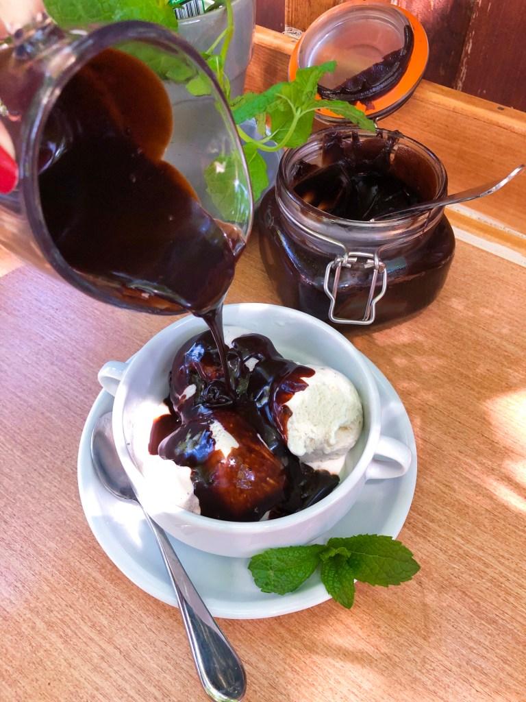 Dark Chocolate Mint Hot Fudge Sauce | The Rose Table