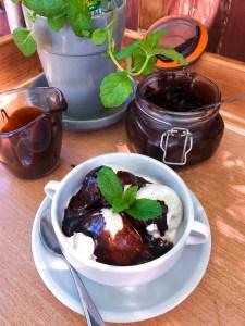 Dark Chocolate Mint Hot Fudge Sauce   The Rose Table